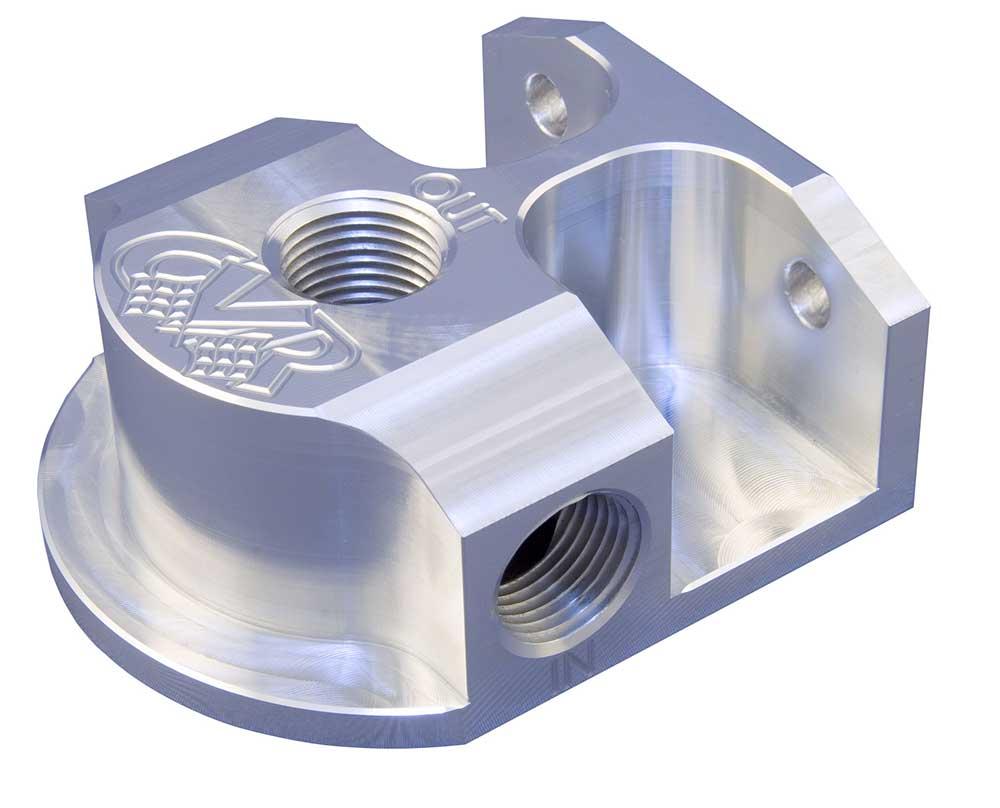 universal fuel filter housing ford billet remote    filter    mount cvr high performance  ford billet remote    filter    mount cvr high performance